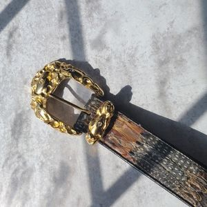Vintage peacock feather belt